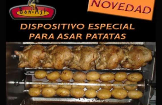 Dispositivo especial asar patatas